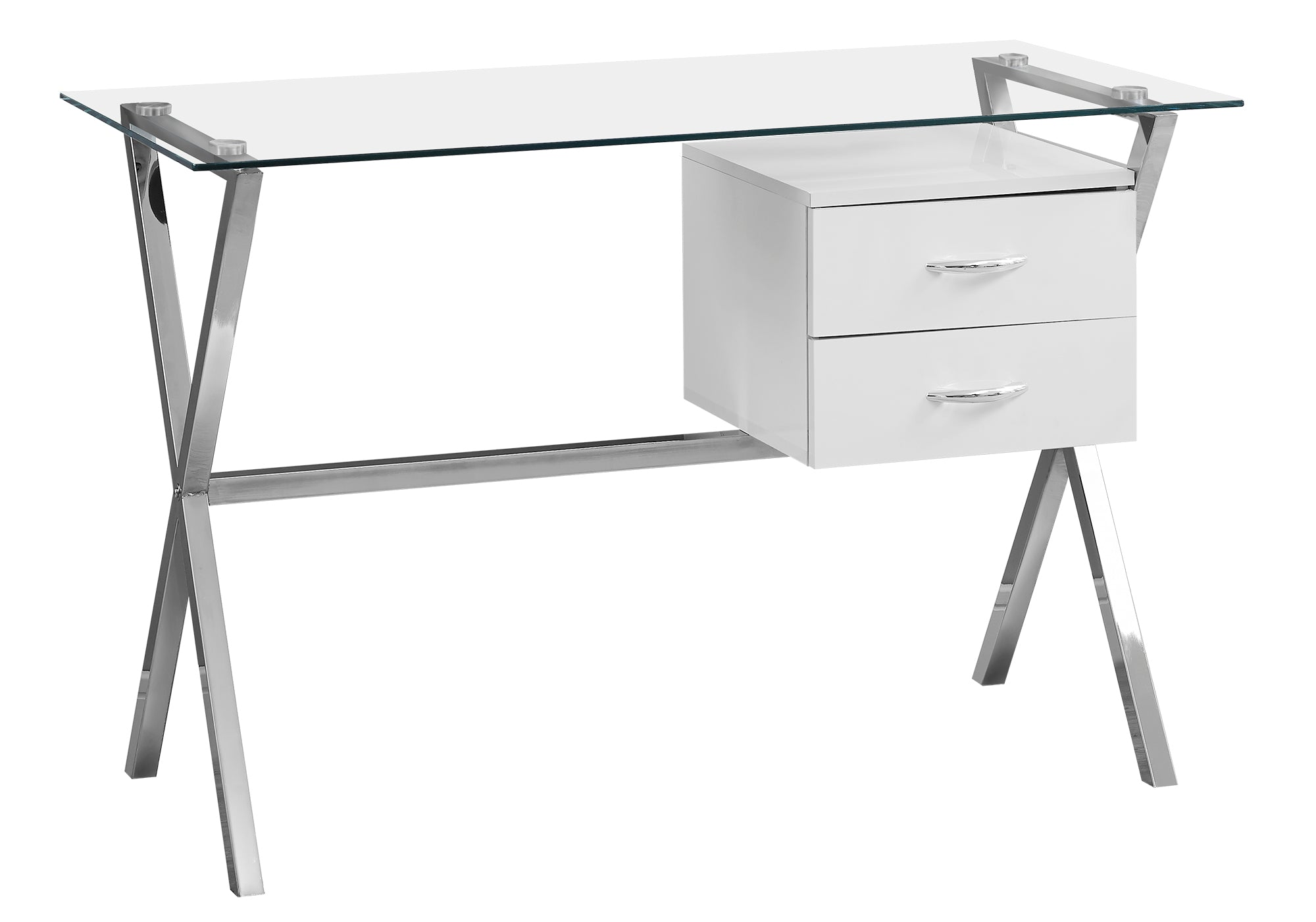 glass top office table stylish 48