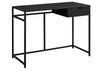 "42"" Black Minimalist Office Desk w/ 1 Drawer"