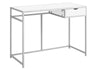 "42"" White Minimalist Office Desk w/ 1 Drawer"