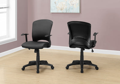 Ergonomic Black Office Chair w/ Curved Back