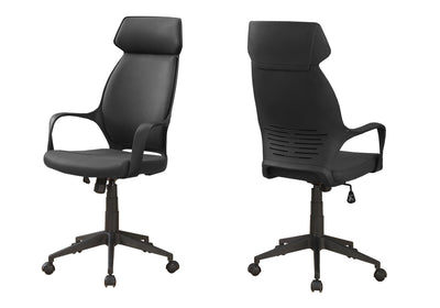 High-Back Black Microfiber Office Chair