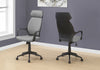 High-Back Gray Microfiber Office Chair
