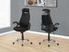 Comfortable & Ergonomic Black Mesh Office Chair with Headrest