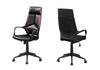 Sleek Black & Brown Leatherette Office Chair w/ Ergonomic Design