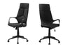 Sleek Black Office Chair w/ Ergonomic Design