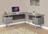 "71"" Dark Taupe Left/Right Facing Corner Desk w/ Drawers"