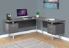 "71"" Grey Left/Right Facing Corner Desk w/ Drawers"