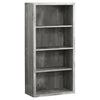 Classic Grey Woodgrain Office Bookcase