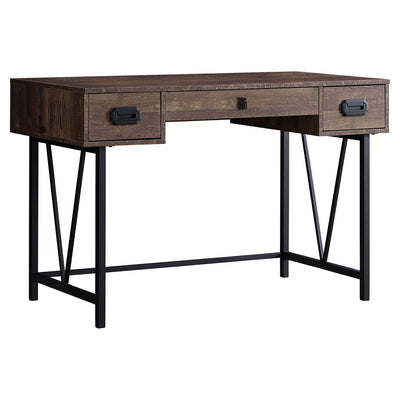 "48"" Brown Woodgrain Office Desk w/ V Design Base"
