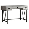"48"" Grey Woodgrain Office Desk w/ V Design Base"