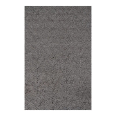 8 x 10 Subtle Gray Zigzag Office Rug