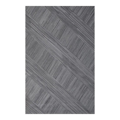Elegant 5 x 8 Crisscross Silver Office Rug