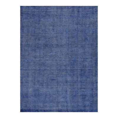5 x 8 Subtle Patterned Blue Office Rug