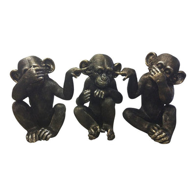 Classic Detailed See No Evil Chimps Statue
