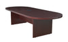 "Mahogany 120"" Oval Conference Table with Power Data Port"