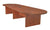 "168"" Modular Oval Conference Table with Power Data Port in Cherry"