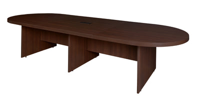 "168"" Modular Oval Conference Table with Power Data Port in Java"