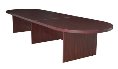 "168"" Modular Oval Conference Table with Power Data Port in Mahogany"