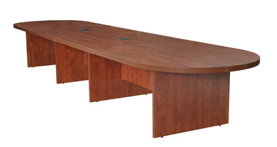 "Cherry 192"" Modular Conference Table with 2 Power Data Grommets"