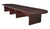 "Mahogany 192"" Modular Conference Table with 2 Power Data Grommets"