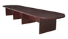 "216"" (18 Foot) Modular Conference Table with 2 Power Data Grommets- Mahogany"