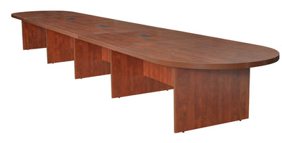 "240"" (20 Feet) Conference Table with 3 Power Data Grommets in Cherry"