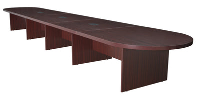"240"" (20 Feet) Conference Table with 3 Power Data Grommets in Mahogany"