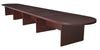 "264"" (22 Foot) Modular Conference Table with 3 Power Data Ports in Mahogany"