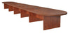"288"" (24 Foot) Modular Conference Table with 4 Power Data Ports in Cherry"