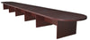 "288"" (24 Foot) Modular Conference Table with 4 Power Data Ports in Mahogany"
