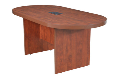 "71"" Racetrack Conference Table with Power Data Port in Cherry"