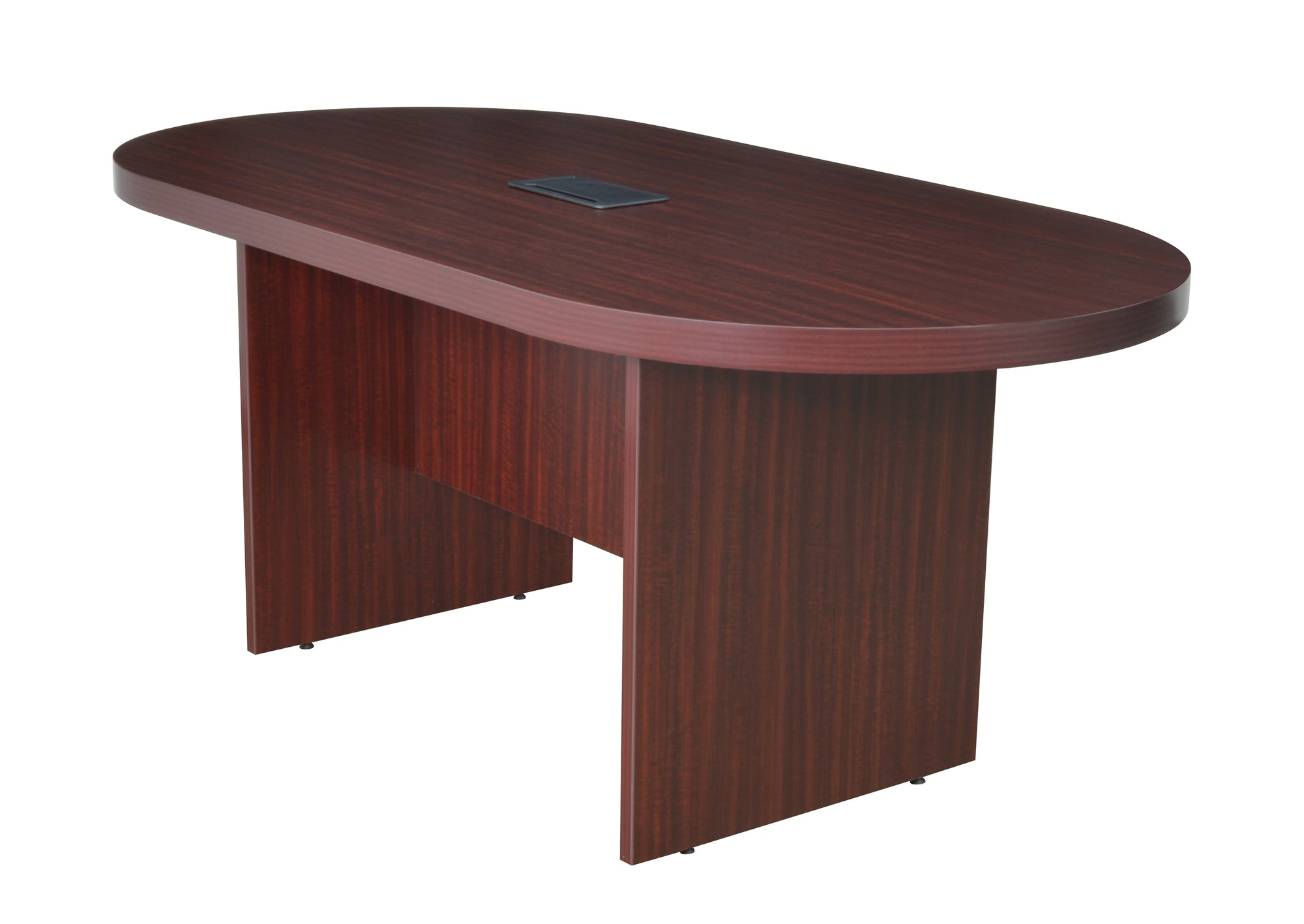 71 Racetrack Conference Table With Power Data Port In Mahogany