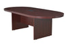 "Legacy 95"" Racetrack Conference Table with Power Data Grommet- Mahogany"