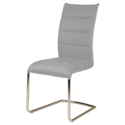 Ash Grey Fabric Guest or Conference Chairs (Set of 2)