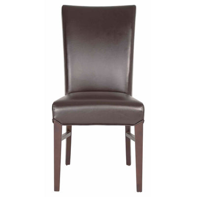 Eye-Catching Espresso Leather Guest or Conference Chair (Set of 2)