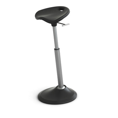 Adjustable Perch Seat for Standing Desk in Black