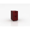 2-Drawer Mahogany Mobile File Cabinet
