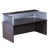 Modern Driftwood Reception Desk w/ Plexiglass Privacy Barrier