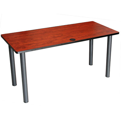 "60"" Cherry Training Table with Optional Casters"