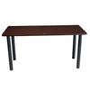"60"" Mahogany Training Table with Optional Casters"