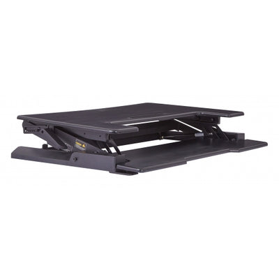 Black Desk Riser with 8 Height Positions, for Optional Standing