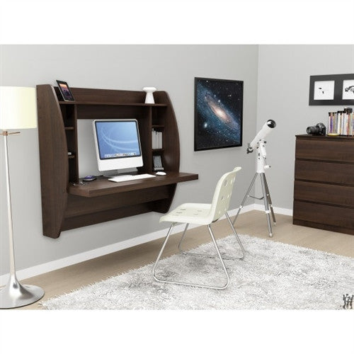 Modern 42 Quot Espresso Floating Wall Mounted Desk