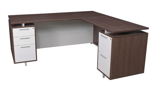 OneDesk Collection L-shaped Corner Desk in Java