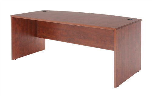 Sandia Collection Executive Desk with Bowed Front in Cherry