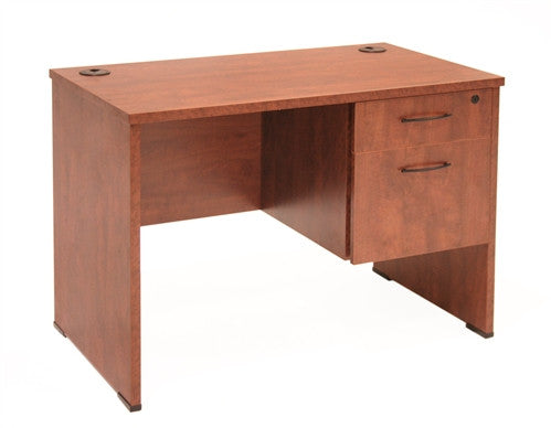 Sandia Collection Single Pedestal Desk in Cherry