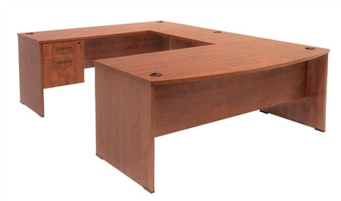 Sandia Collection U-shaped Workstation in Cherry