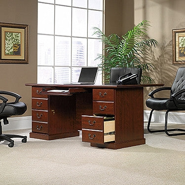 "70"" Classic Cherry Double Pedestal Executive Desk"