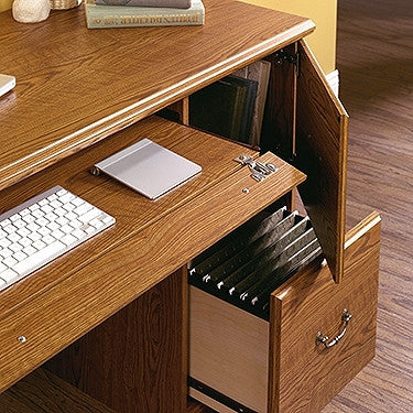 "47"" Carolina Oak Computer Desk with Storage"