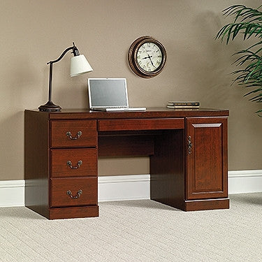 "Sleek 59"" Executive Computer Desk in Classic Cherry"