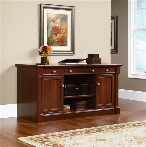 Modern Select Cherry Credenza with Slide out Work Surface